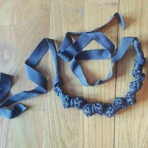J. Crew Jewelry - NWOT J Crew Ribbon Rhinestone Knot Necklace